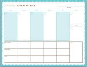 Cute Planner Templates 7 Day Weekly Planner Template Cute Calendar Template 2016