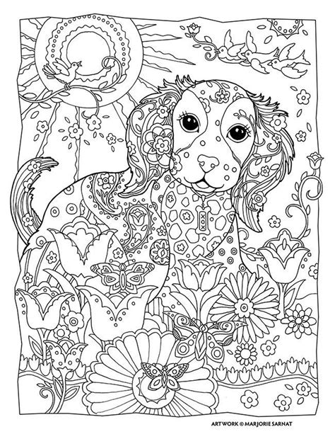 Coloring Pages For Adults Dogs | dogs coloring pages difficult adult coloring home
