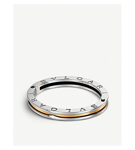 Bvlgari Snakerose Gold All Stell bvlgari b zero1 18kt yellow gold and steel bangle