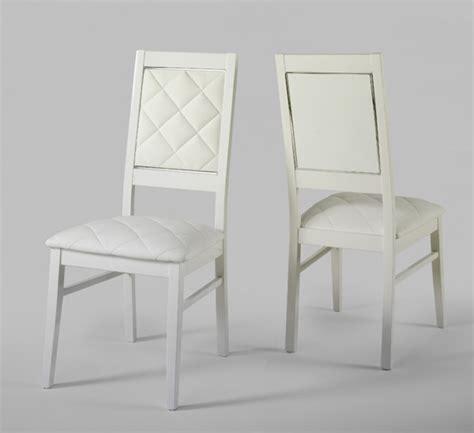 chaise bois blanc salle manger chaise laque blanc