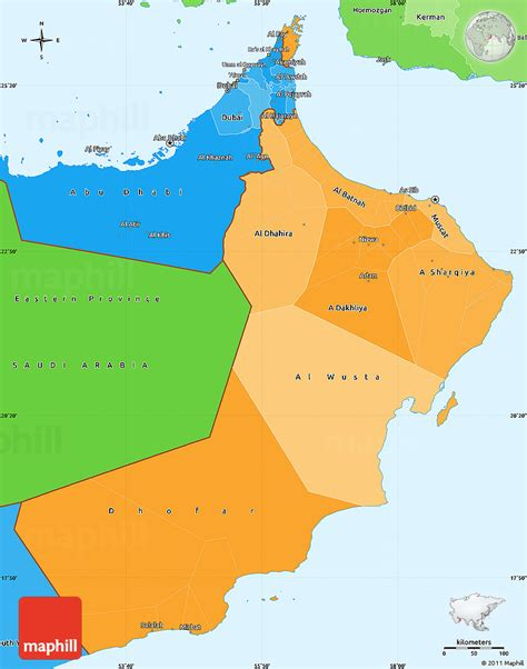 oman political map political shades simple map of oman