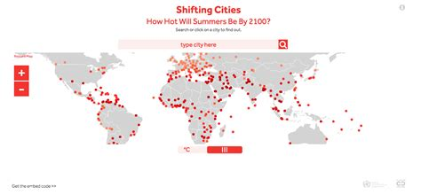 world cities interactive map interactive map shows how climate change will affect