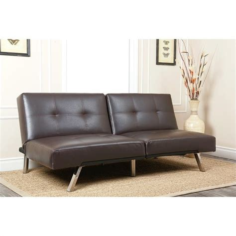 Convertible Leather Sofa Abbyson Living Jakarta Leather Convertible Sofa In Brown Ad Pab 161n5s Brn