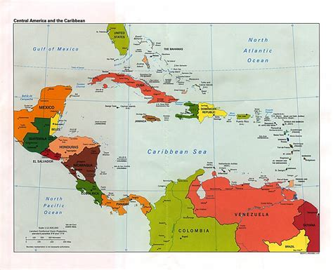 map of central and america useful central america map