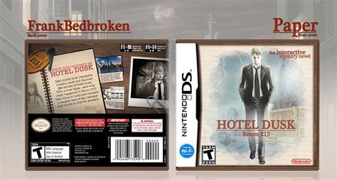 hotel dusk room 215 hotel dusk room 215 nintendo ds box cover by brokenpaper