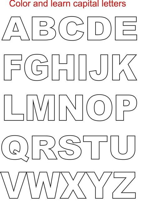 alphabet template stencil word printable alphabet