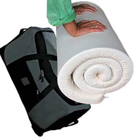 Mattress Travel Bag by Memory Foam Travel Topper Fabric Cover And Wheeled Holdall