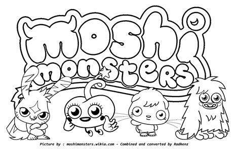 moshi monsters coloring pages diavlo trololo blogg moshi monsters rox wallpaper code