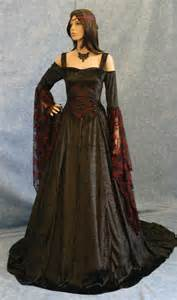gothic dress renaissance dress medieval dress halloween wedding dress pagan dress elven