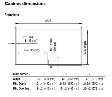 blind corner cabinet dimensions vauth sagel 90003282 slide corner right large