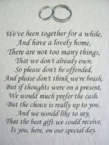 poem for wedding invite no gifts 17 best ideas about wedding gift poem on wedding gift list honeymoon fund wedding