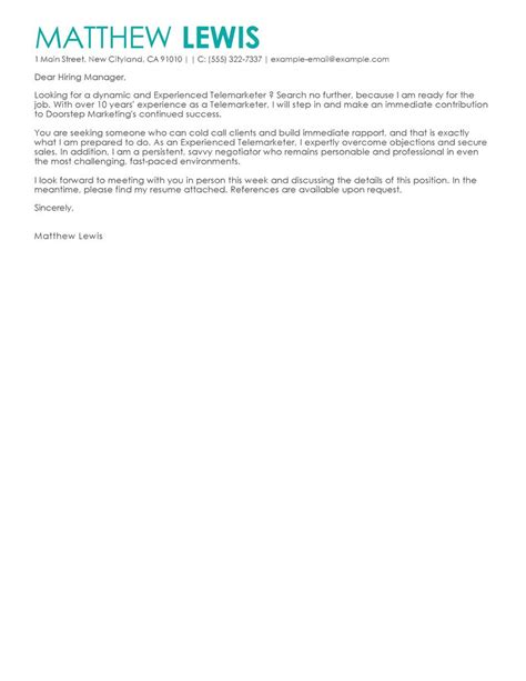 cold contact cover letter tips