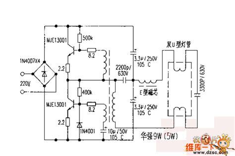 circuit diagram of electronic choke 9 w 5 w electronic ballast circuit diagram basic