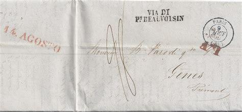 Porto Brief Schweiz Italien Frankreich Sardinien Italien 1839 Porto Brief V Via Beauvoisin M Lf 979 183 Heiner Zinoni