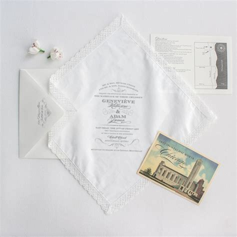 All Wedding Stationery by 21 Charming Handkerchief Wedding Invitations For Vintage