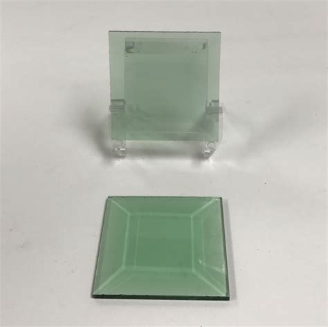colored squared square colored glass bevel 2 x 2 glass house store