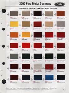 paint chips 2000 ford continental