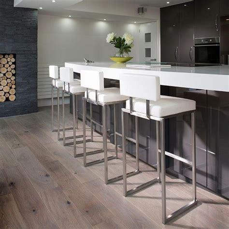 set   luxury white kitchen breakfast bar stool seat
