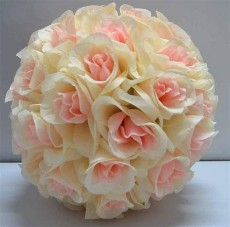 Silk Rose Pomander Flower Ball Bridal Wedding Decor Favor
