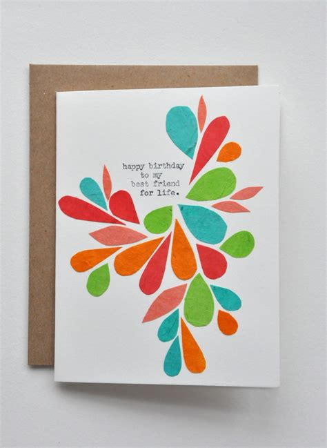 Handmade Bday Cards - beautiful handmade birthday cards for best friend