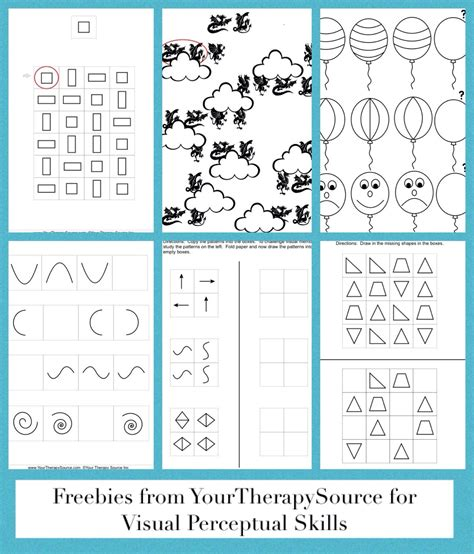 Free Visual Perception Worksheets by Visual Perceptual Activity Archives Your Therapy Source