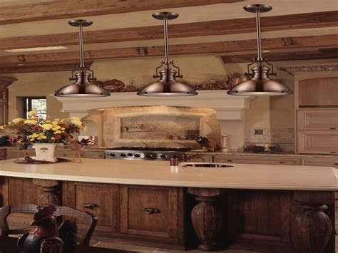 french country kitchen lighting industrial pendant