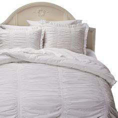 simply shabby chic ruched comforter set