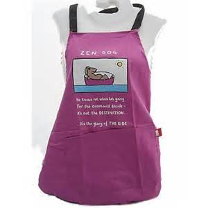 zen dog funny sketch cotton apron by edward monkton 163 18