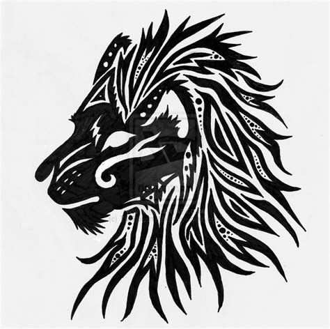 tribal tattoos lion head tribal pictures to pin on pinsdaddy