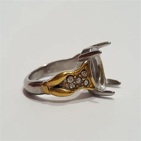 Batu Akik Suaiman Ring Titanium jual 616 emban ikatan batu akik cincin gems ring