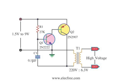 high voltage transistor circuit 12v to 300v dc dc converter circuit eleccircuit