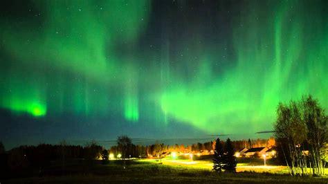 northern lights timelapse lulea sweden youtube