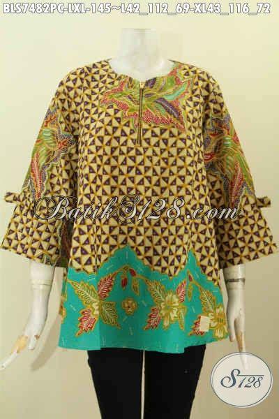 Foto Desain Baju Batik Wanita | foto desain baju batik wanita 2018 blus febi kancing