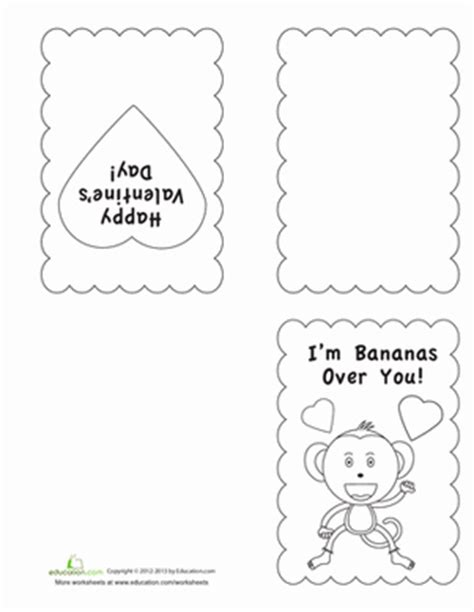 simple s day card activities with templates for 6th graders s day coloring cards worksheet education