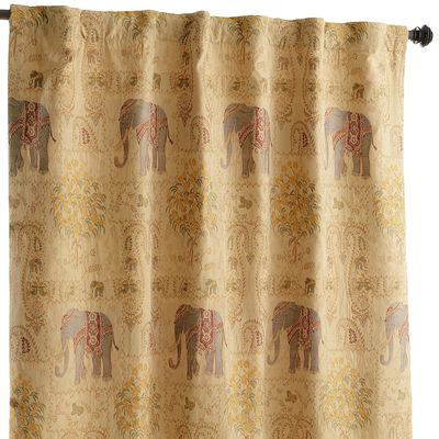 elephant tapestry curtain elephant tapestry curtain 84 quot pier 1 imports