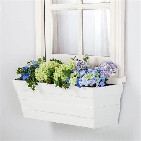 White Window Box Planters by Brickton White Flower Boxes Buy A Window Box