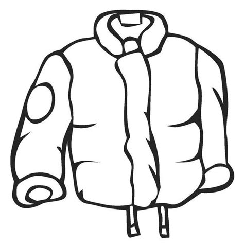 rain jacket coloring page 20 best winter coloring page images on pinterest