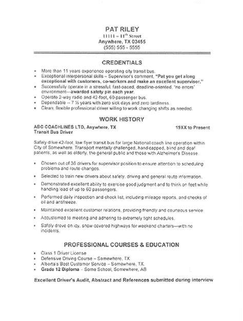 transportation resume sample all trades resume writing