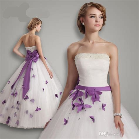 brautkleider in lila purple butterfly wedding dress www pixshark images