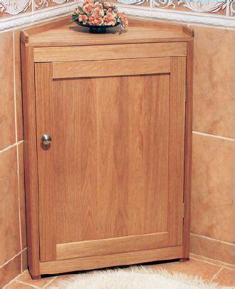 build simple corner bathroom cabinet
