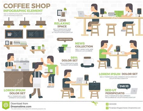design elements of a coffee shop royalty free stock images coffee shop infographic element
