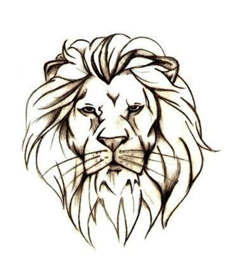 simple lion tattoo outline search tatto images