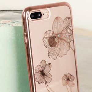 crystal flora  iphone   case rose gold