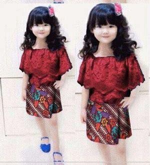 Set Kebaya Floy Lengan Pendek Cantik Dan Lucu setelan baju kebaya rumbai brukat dan rok batik anak