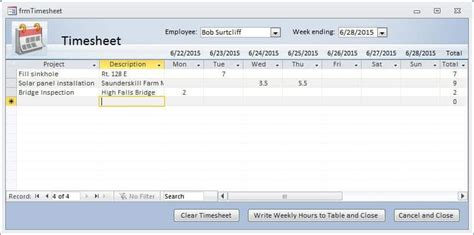 How To Make Timesheet In Ms Excel Time Sheet Template For Excel Timesheet Calculatoremployee Access Time Tracking Template