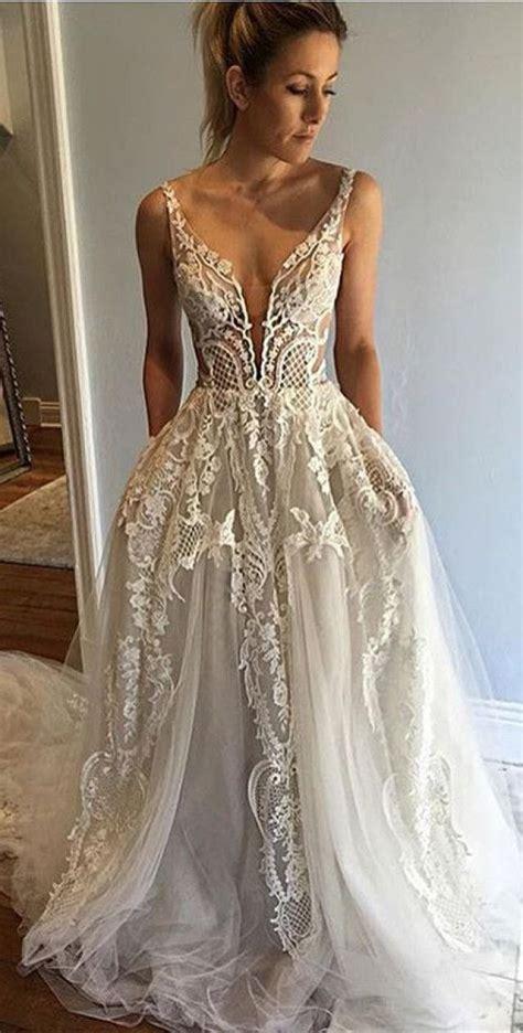 gold lace formal elegant wedding dinner menu 4x9 25 honorable deep v neck sleeveless court train appliques