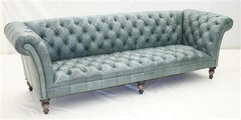 Aqua Tufted Leather Sofa Luxury Furniture Tufted Leather Sofa Set