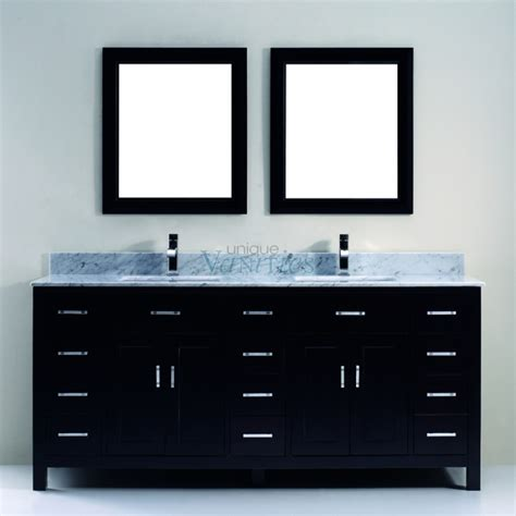 75 Inch Sink Bathroom Vanity With Marble Top In