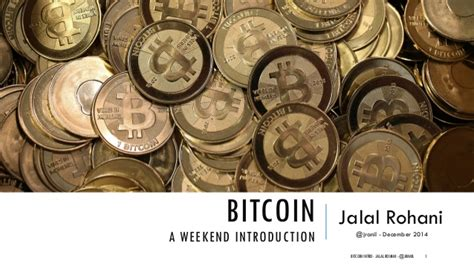 Weekend Mba For Dummies by An Introduction To Bitcoin And Cryptocurrency Ecosystem