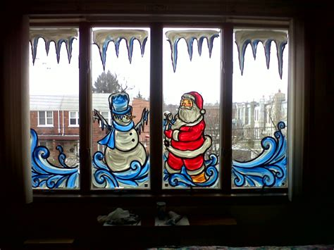 window painting for christmas a cinderella window painting from